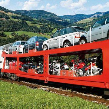 حمل موتورسیکلت یا خودرو با قطار